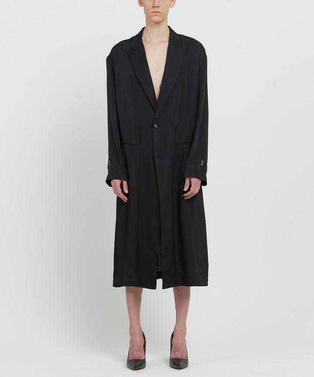 Black Cupro Lab Coat