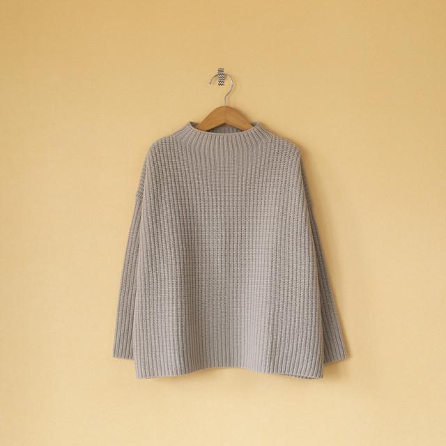 evam eva エヴァムエヴァ soft wool high necked pullover ソフトウールハイネッククルオーバー・ベージュ