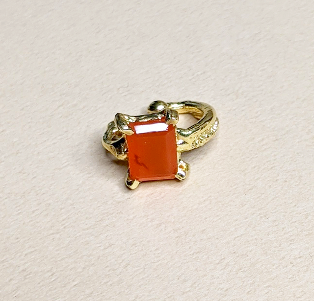 2WAY Carnelian ear cuff | MIHO meets RUKUS