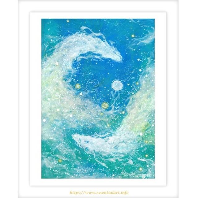 浄化する水の龍神 ~アクリル画 原画作品~