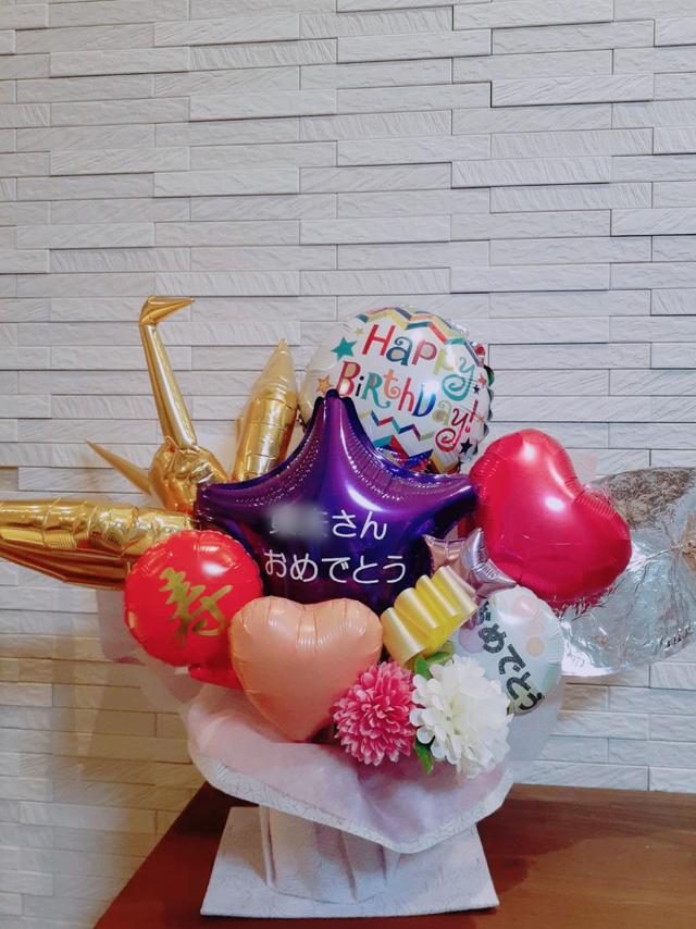 【AN-15】【送料無料】鶴のバルーンがインパクトあり!米寿・古希などのお祝い、お誕生日に!