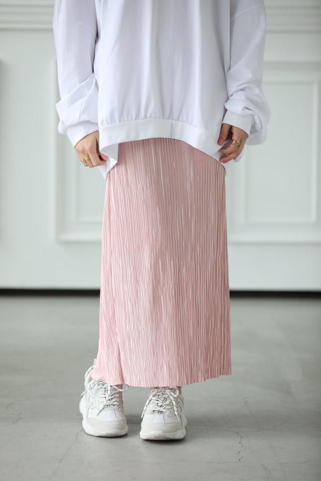 (nonno掲載)pleats straight sk