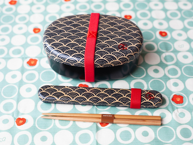 和布(わふ)箸箱セット 青海波(33257)