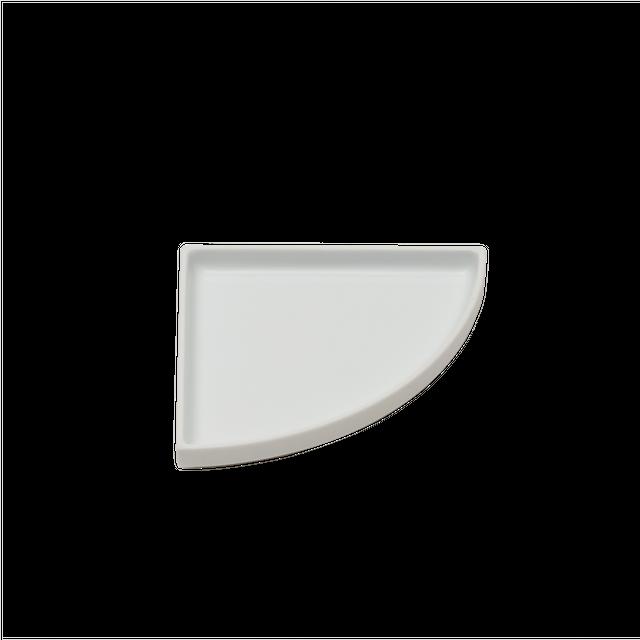有田焼皿   Quarter Plate white