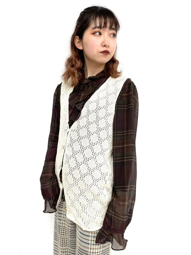 crochet knit vest / 2SSTP24-02