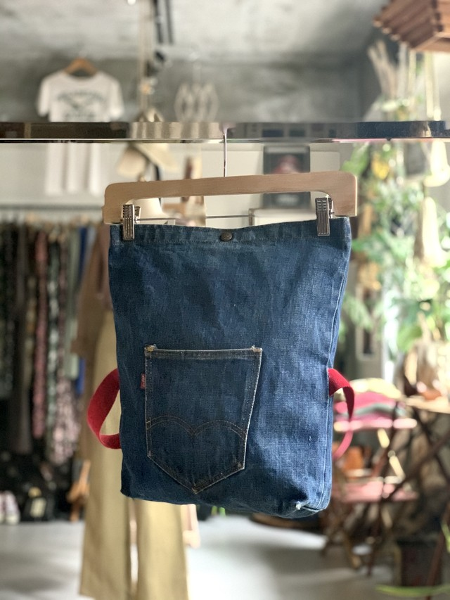 "80's Levi's old denim  rucksack ""JUNK"""