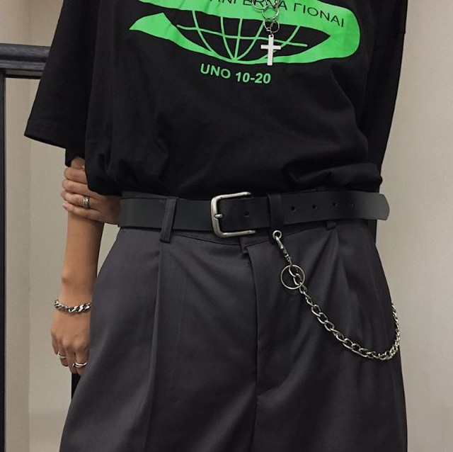 Black belt with chain LD0501