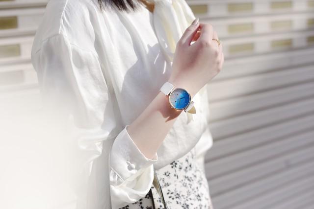 腕時計GRANDEUR ESL080 薄型グリッターレディースウォッチ