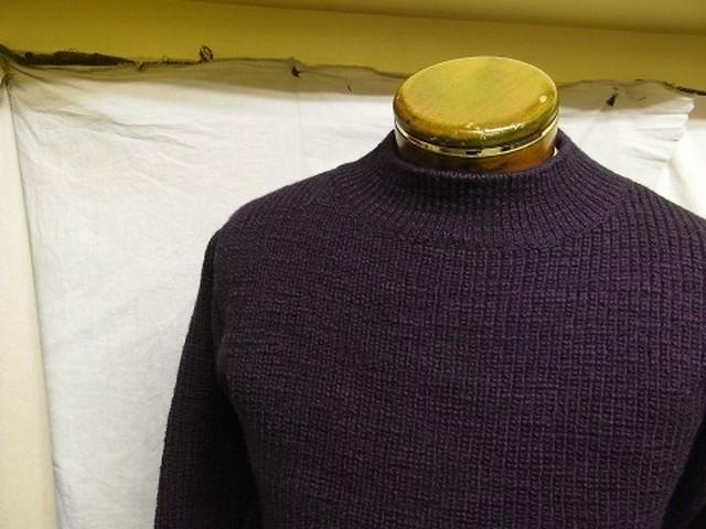 classic mockneck sweater / deeppurple