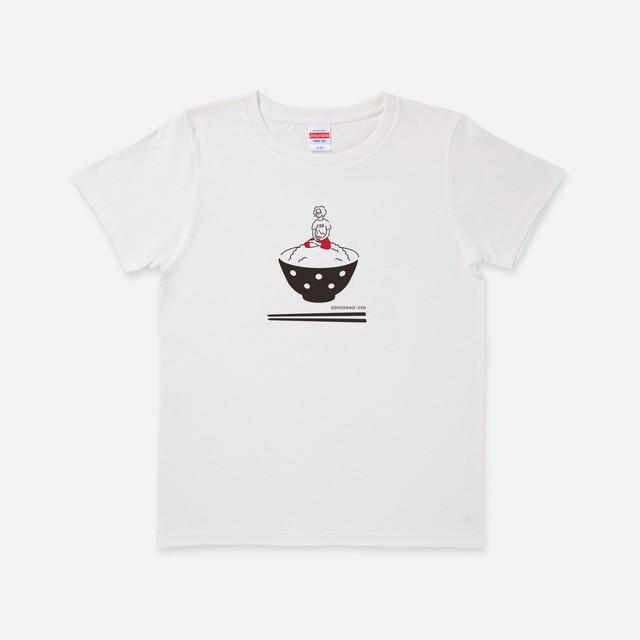 Tシャツ[どこでもZEN]どこでもZEN オン・ザ・ライス with 赤パンツ バニラホワイト色