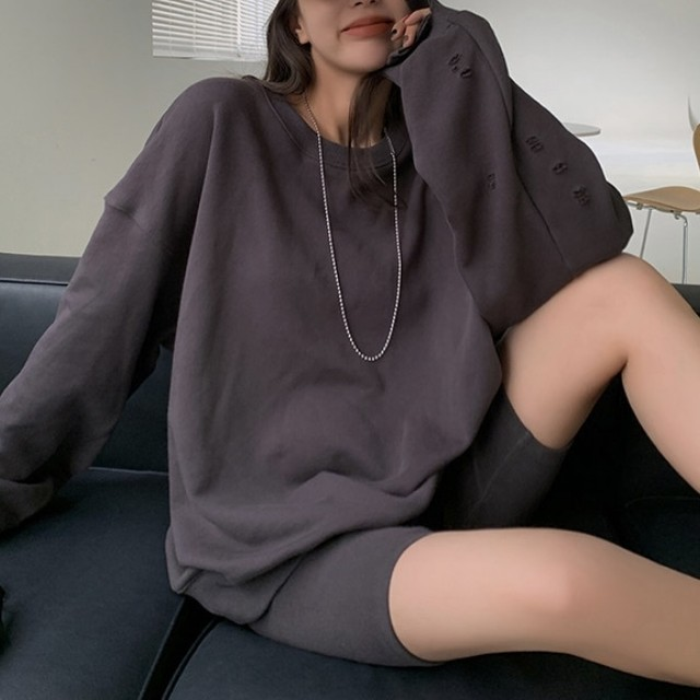 Over size sweat pull over