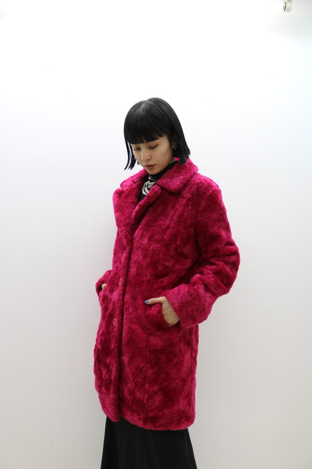 reversible single fur jacket / OU11290111
