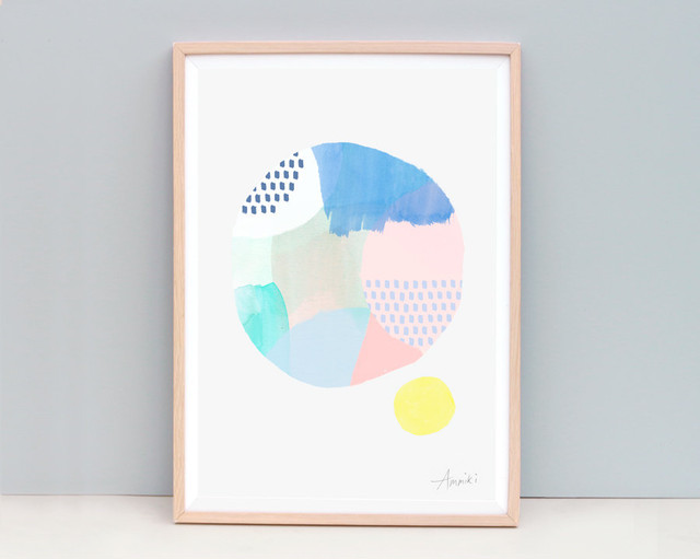 Abstract Circle / A4 Cirlce Art Print