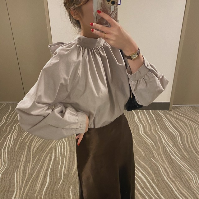 DAYNYC stand collar blouse