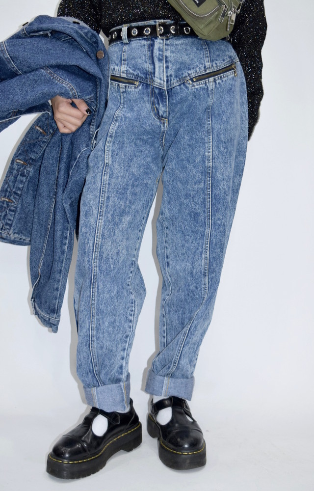 【WEB限定】Chemical Wash Denim Pants(BLUE)