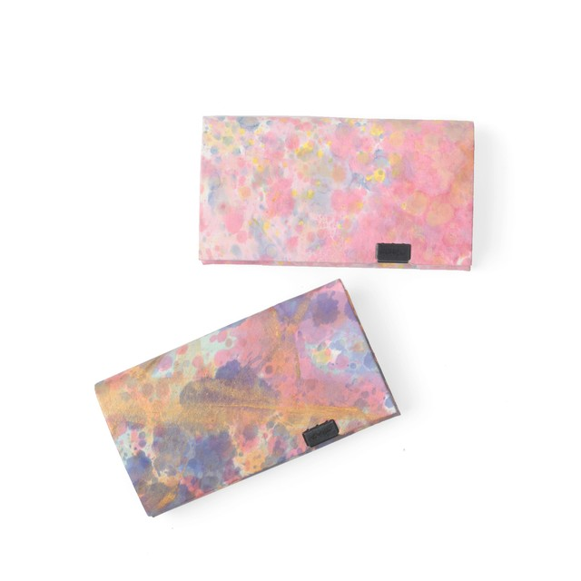 印象派 カードケース ピンク・バイオレット