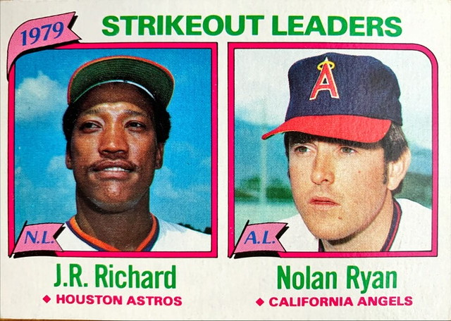 MLBカード 80TOPPS J.R.Richard & Nolan Ryan #206 ASTROS & ANGELS