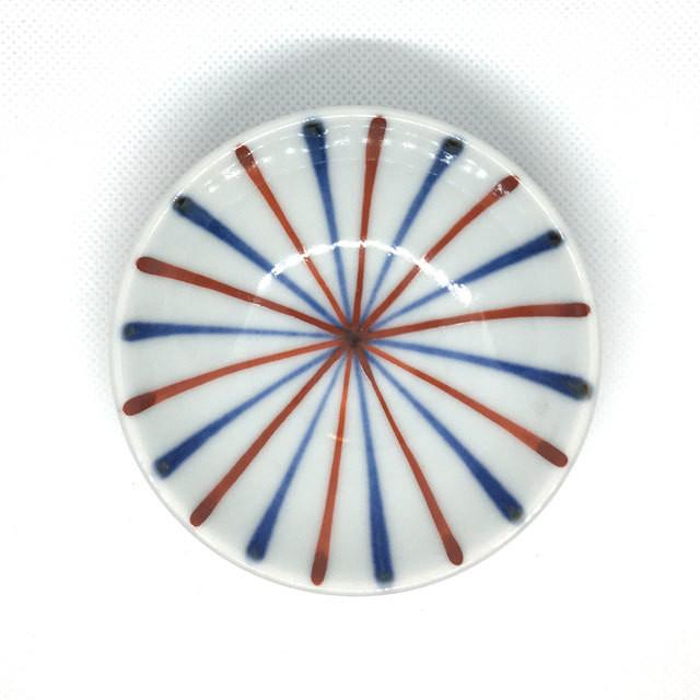 【砥部焼/梅山窯】3寸小皿(笹紋)