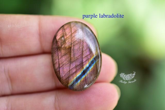 赤紫の渋み★オーバル型★レッドパープルラブラドライト ルース labb051