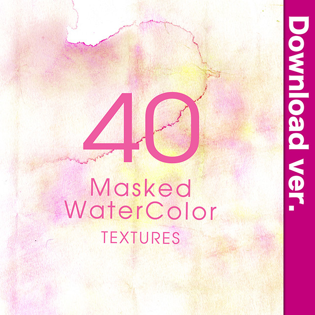 ★75%OFF★透明水彩素材集3-5/MaskedWaterColor_3-5