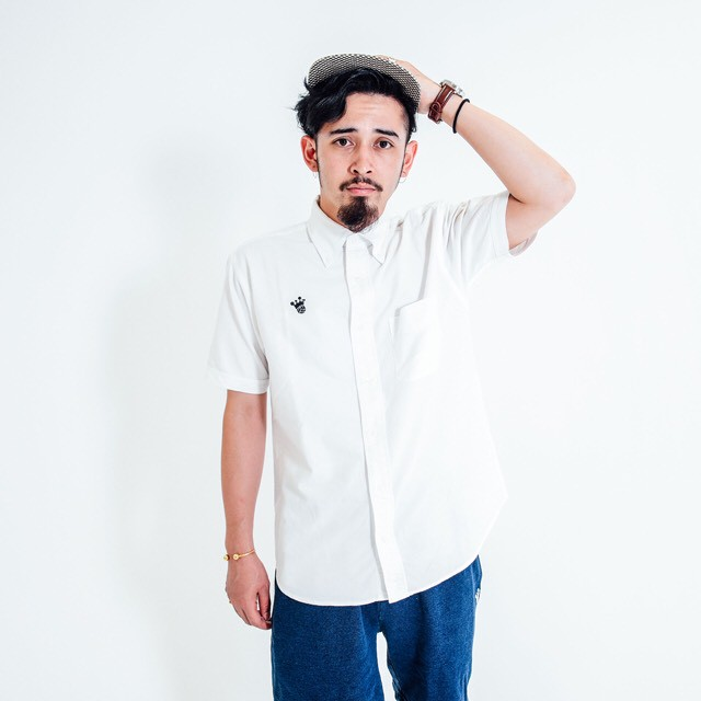 King Logo Oxford Short Sleeve Shirt / White - メイン画像