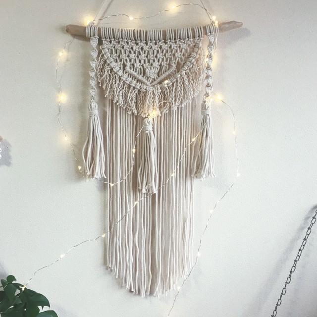 Macrame tapestry - tassel -