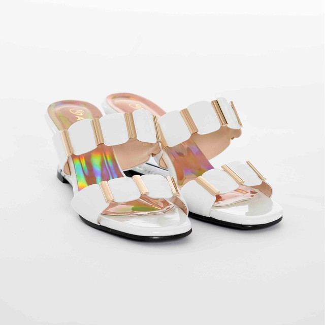 Clear Wedge Sandals