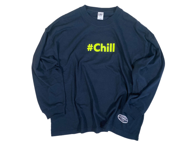 over size【word logo neon long sleeve】 / #Chill yellow