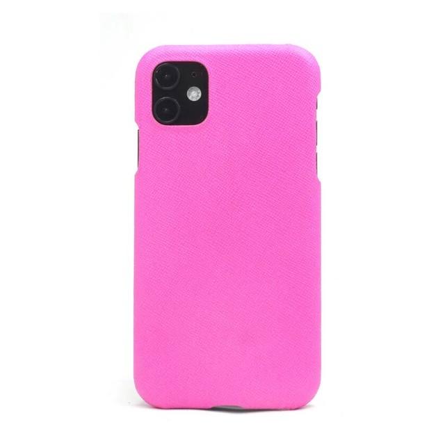 【ショッキングピンク】シンプルケース iPhone / Galaxy / Xperia /  Googlepixel / Huawei / Oppo Reno / AQUOS