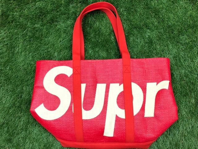 Supreme 20SS RAFFIA TOTE BAG RED 170JH7987