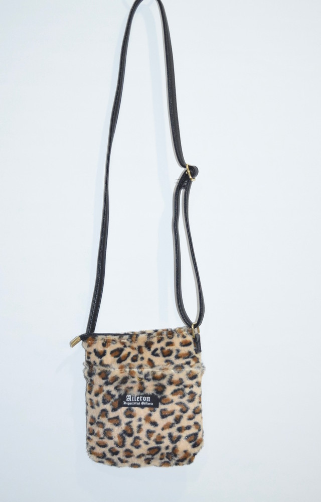 """A.D.G"" LEOPARD FUR SHOULDER-POUCH"