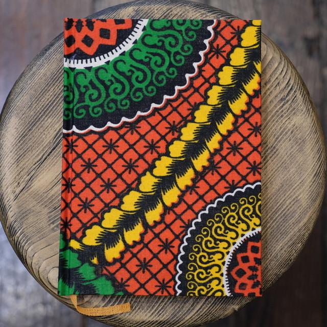 無地 タンザニア 赤花柄 A5Colorisノート ユーティリティサイズ