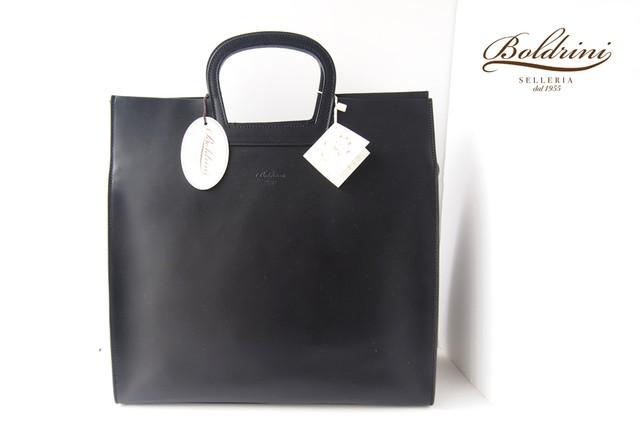 ボルドリーニ|BOLDRINI SELLERIA|トートバッグ|サイド型押し|Art.7077|ブラック