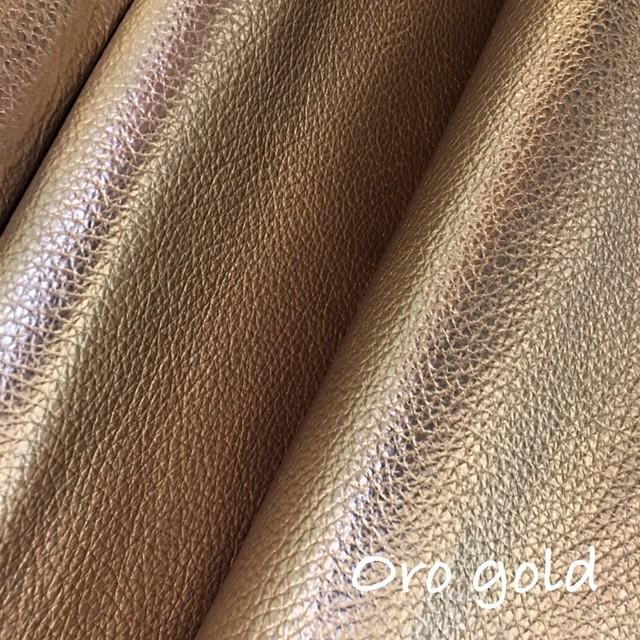 ☆再入荷☆36cm×36cm カルトナージュ用イタリア製レザー  oro gold(抑え目ラメゴールド)