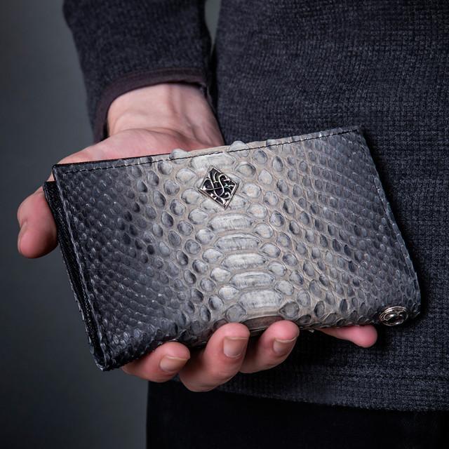 グレーパイソンミディアムウォレット ACW0023 Gray Python Medium Wallet