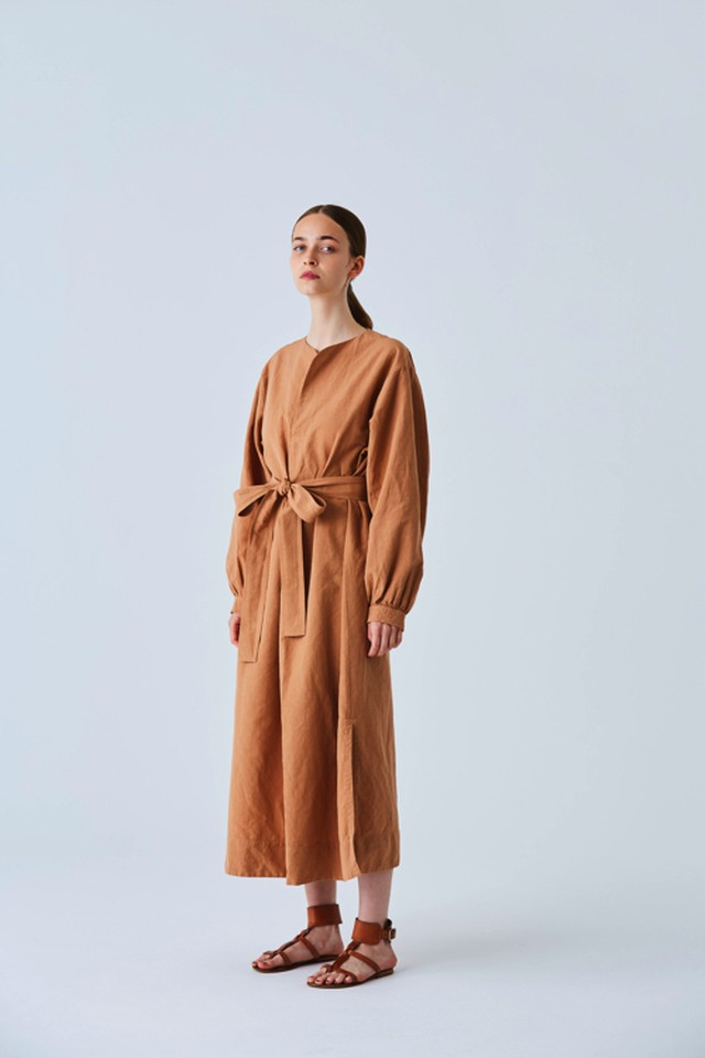 Linen Cotton Kaftan Maxi Dress