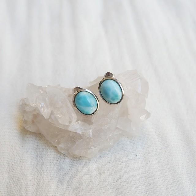 Larimar Pierced Earring《18388261》