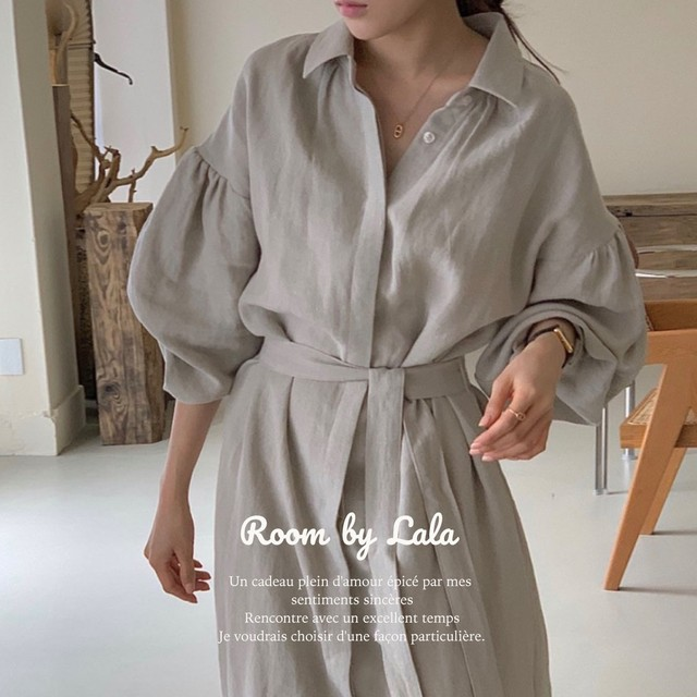 9/26(日)〆【お取り寄せ】Casual shirt dress / ドレス / LE202241