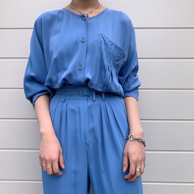 70's〜80's Vintage Collor Jump Suits