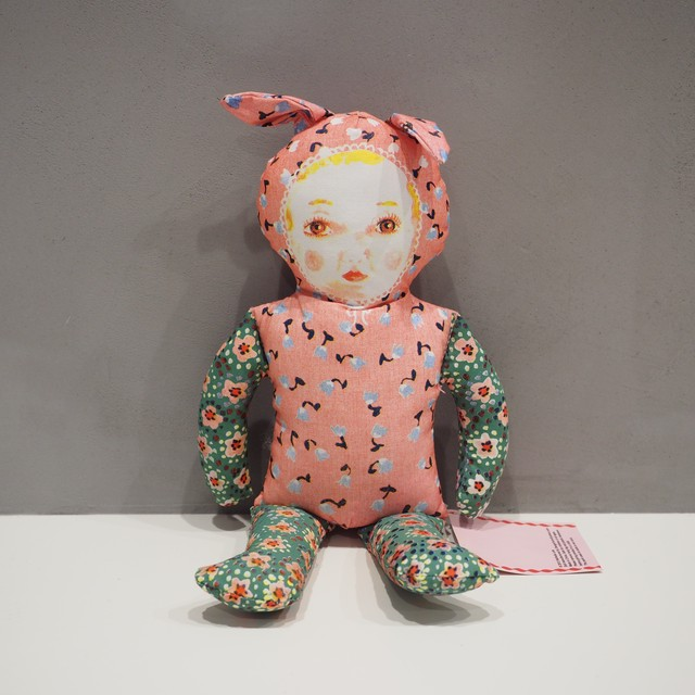 PINK BUNNY FABRIC DOLL Nathalie Lete