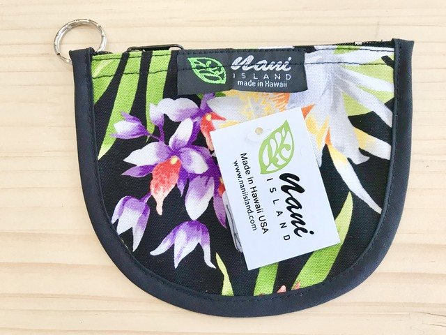 "NANI ISLAND ""MADE IN HAWAII"" POUCH (BLACK/WHITE)"