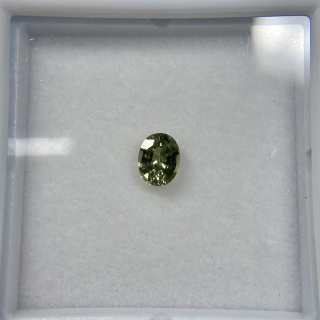 オーバル サファイア グリーン系 No.3 約4.3mm*3.4mm