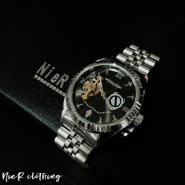 NieR ORIGINAL 高品質 自動巻腕時計【SILVER】