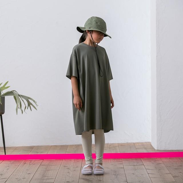 MOUNTEN.  seed stitch dress (khaki)110 125 140 [MT201015-a] MOUN TEN ※メール便可