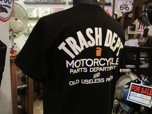 TRASH DEPT オリジナルTシャツ タイプBブラック