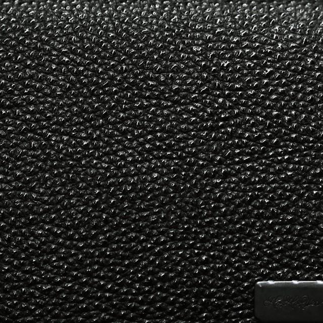 姫路黒桟革 カードケース 黒