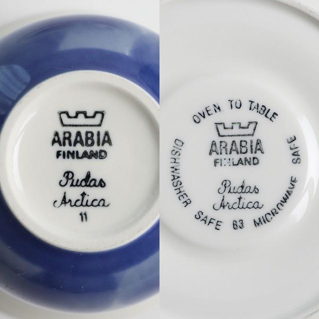 ARABIA アラビア Pudas Arctica アークティカ・プダス カップ&ソーサー 北欧ヴィンテージ