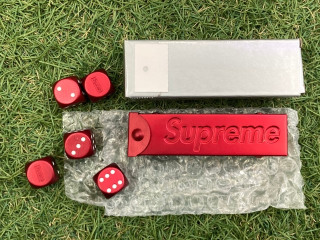 SUPREME ALUMINUM DICE SET RED 45KC3318