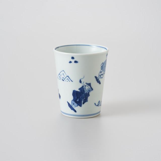 【青花】異人づくし ミルクカップ(大)