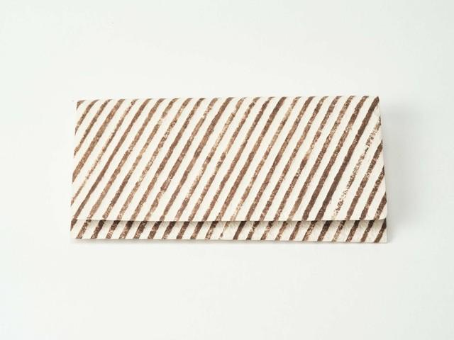 白石拓本紙子 袋もの|縞々